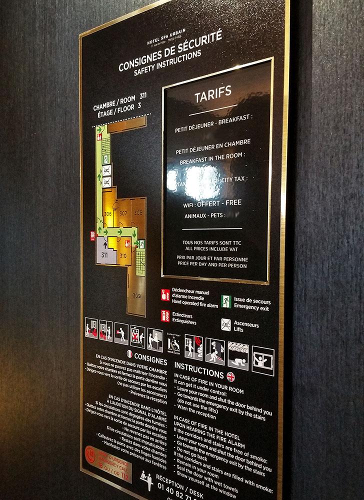 consigne sécurité hotel