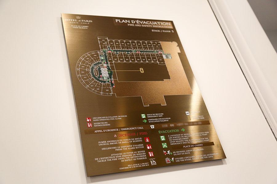plan évacuation laiton hotel palace